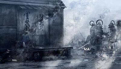 Artwork Painting - Samurai 27957 by Jani Heinonen