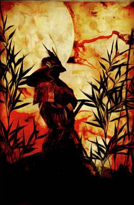 Digital Art - Samurai Before Battle by Vic Weiford