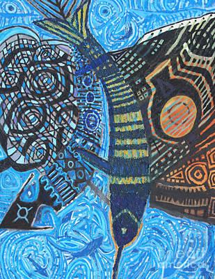 Samurai Del Mar Art Print by Aldo Carhuancho herrera