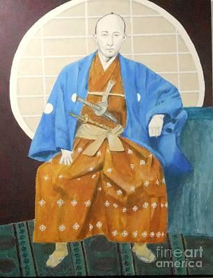 Samurai-san -- Portrait Of Japanese Warrior Art Print by Jayne Somogy