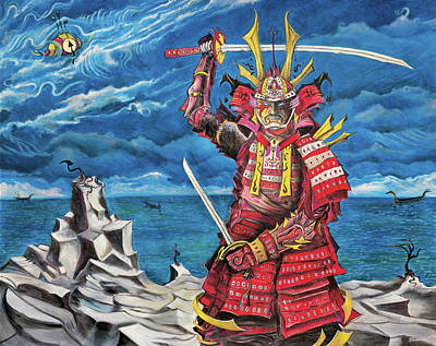 Painting - Samurai Sin-mint by Yom Tov Blumenthal