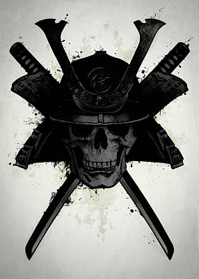 Warrior Wall Art - Digital Art - Samurai Skull by Nicklas Gustafsson