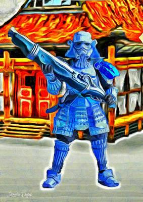 Fire Digital Art - Samurai-trooper - Da by Leonardo Digenio