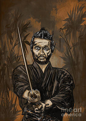 Painting - Samurai Warrior. by Andrzej Szczerski