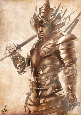 Digital Art - Samurai Warrior by Fabrizio Uffreduzzi