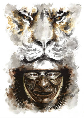 Japanese-art Painting - Samurai - Warrior Soul. by Mariusz Szmerdt