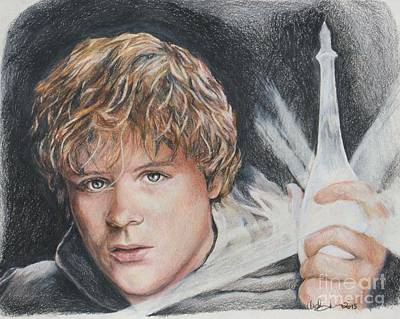Drawing - Samwise Gamgee / Sean Astin by Christine Jepsen