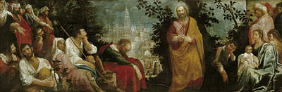 San Juan Painting - San Andres Preaching by Juan de Roelas