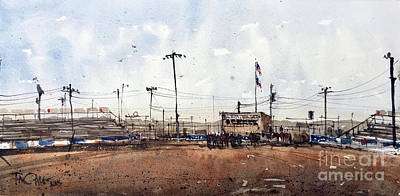 Painting - San Angelo Fiesta Roping Pregame by Tim Oliver