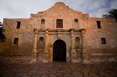 San Antonio Alamo At Sunrise Art Print