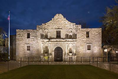 The Alamo Wall Art - Photograph - San Antonio Alamo Before Sunrise 3 by Rob Greebon