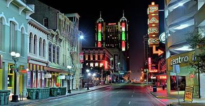 Photograph - San Antonio Alight by Frozen in Time Fine Art Photography