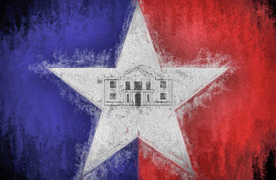 Digital Art - San Antonio City Flag by JC Findley