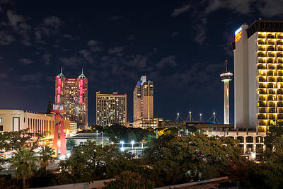 Cities Digital Art - San Antonio Cityscape At Night by Tod and Cynthia Grubbs