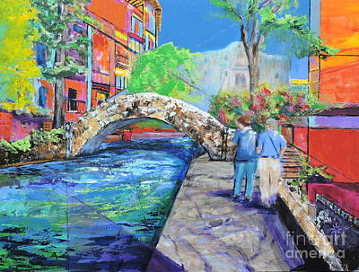 Painting - San Antonio by Jodie Marie Anne Richardson Traugott          aka jm-ART