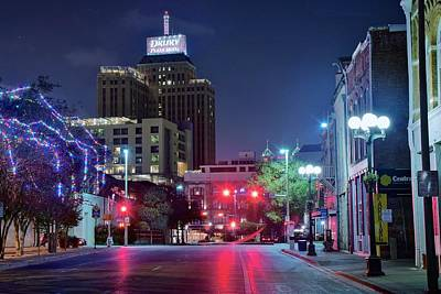 Photograph - San Antonio Night  by Frozen in Time Fine Art Photography