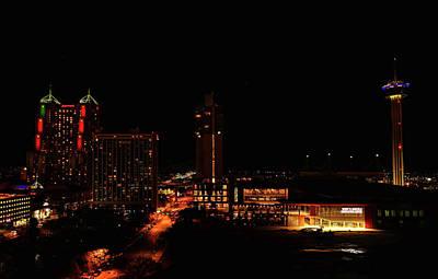 Photograph - San Antonio Night by Judy Vincent