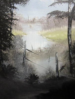 Painting - San Antonio River At Espada Park by Monique Montney