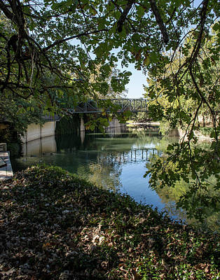 Photograph - San Antonio River Stroll by Allen Sheffield