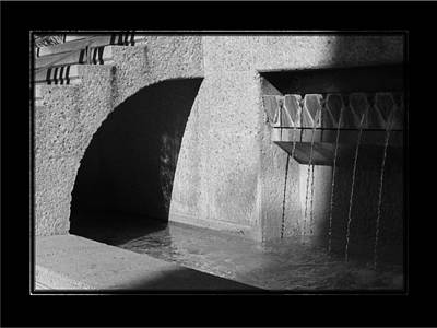 Photograph - San Antonio River Walk 1 Bandw by David Dunham