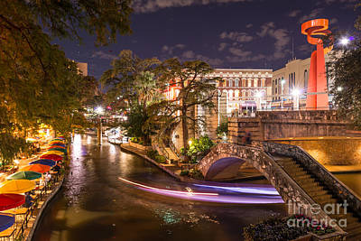 Riverwalk Digital Art - San Antonio River Walk After Dark by Tod and Cynthia Grubbs