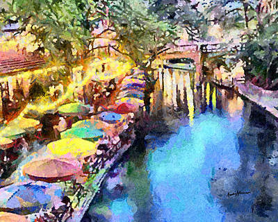 River Walk Painting - San Antonio River Walk by Anthony Caruso