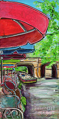 Painting - San Antonio River Walk Cafe by TM Gand