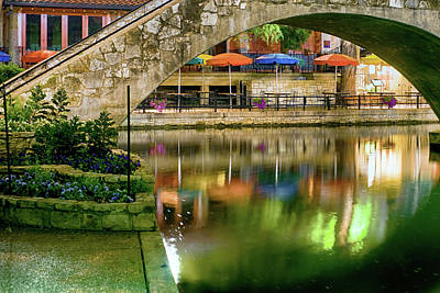 Photograph - San Antonio River Walk Green by Rospotte Photography