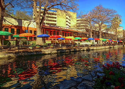 Photograph - San Antonio River Walk Hdr by Judy Vincent