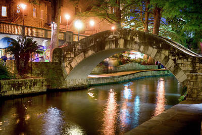 San Antonio River Walk V1 Art Print
