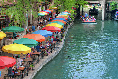 San Antonio Riverwalk - A Place For Love Art Print by Gregory Ballos