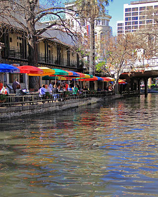 Photograph - San Antonio Riverwalk by Angela Murdock
