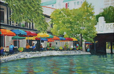 Painting - San Antonio Riverwalk by Cheryl Green
