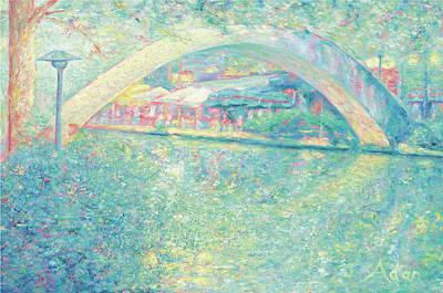 Art Print featuring the painting San Antonio Riverwalk by Felipe Adan Lerma