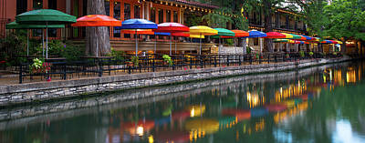 Photograph - San Antonio Riverwalk Panoramic by Gregory Ballos