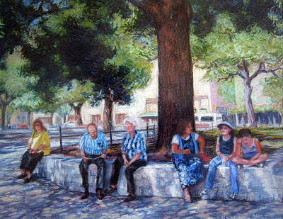 Pastel - San Antonio Shadowplay by Suzanne Berry