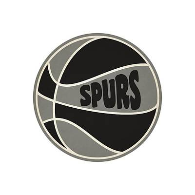 San Antonio Spurs Retro Shirt Art Print by Joe Hamilton