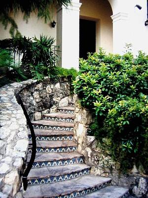 Photograph - San Antonio Stairway by Will Borden