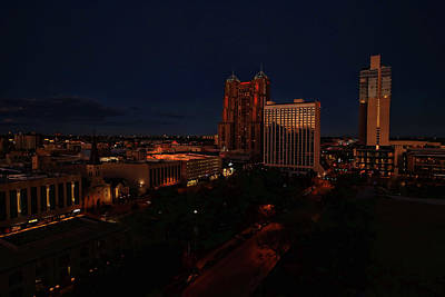 Photograph - San Antonio Sunset by Judy Vincent