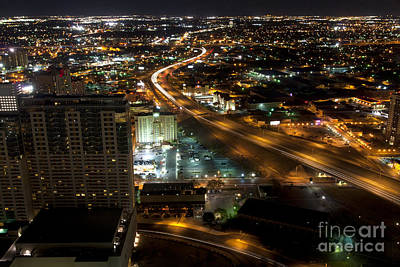 Aeriel View Photograph - San Antonio Texas At Night by Anthony Totah