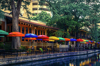 Photograph - San Antonio Texas Riverwalk Colorful Wall Art by Gregory Ballos