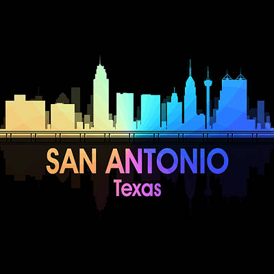 Digital Art - San Antonio Tx 5 Squared by Angelina Vick