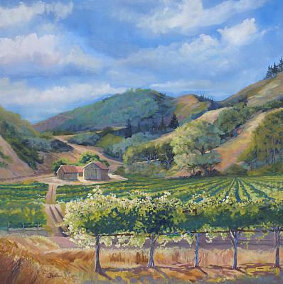 California Vineyard Painting - San Antonio Vineyard by Heather Coen