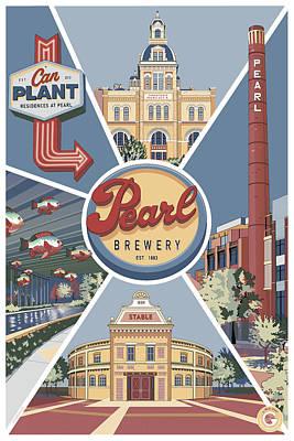 Digital Art - San Antonio's Pearl by Matt Hood