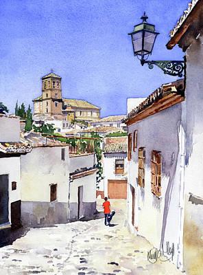 Painting - San Bartolome Albaicin Granada by Margaret Merry