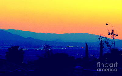 Photograph - San Bernardino California Sunset Silhouette by Michael Hoard