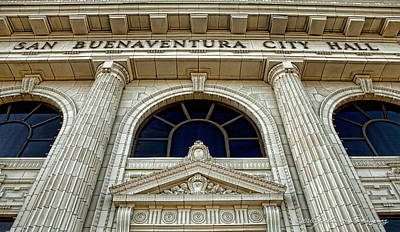 Photograph - San Buenaventura City Hall by John A Rodriguez