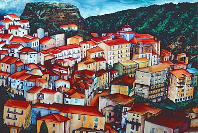 Wall Art - Painting - San Chirico, Italy by Gaye Elise Beda