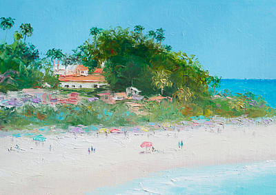 San Clemente Beach Art  Art Print by Jan Matson