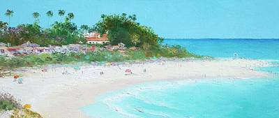San Clemente Painting - San Clemente Beach Panorama by Jan Matson